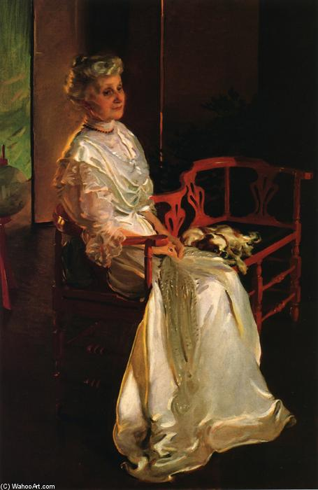 Mrs. Richard Low Divine, Born Susan Sophia Smith 1, Oil by Cecilia Beaux (1855-1942, United States)