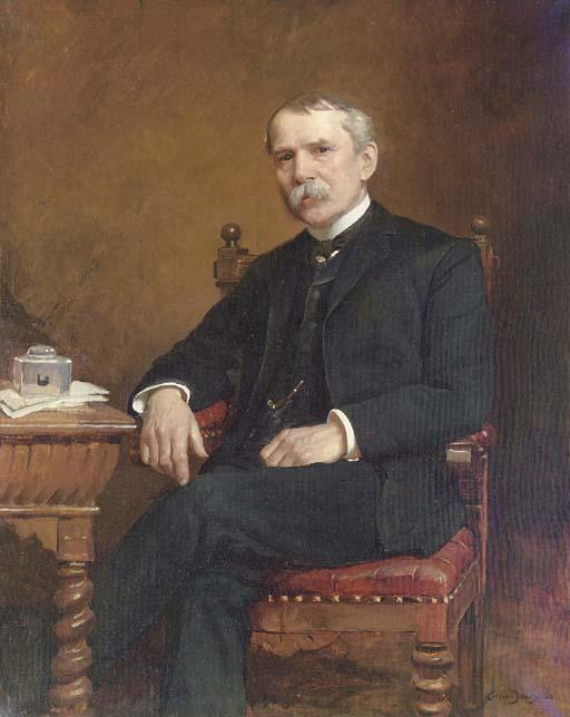 Portrait of George C. Troutman, Oil by Cecilia Beaux (1855-1942, United States)