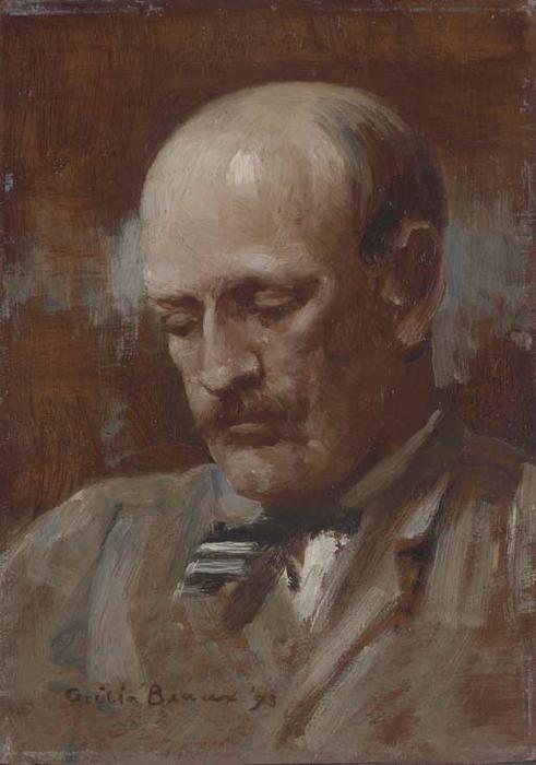 Portrait of Robert C. Minor by Cecilia Beaux (1855-1942, United States) | Oil Painting | ArtsDot.com