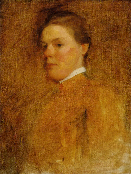 Self-Portrait, Oil by Cecilia Beaux (1855-1942, United States)