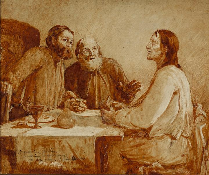 Supper at Emmaus, Oil by Cecilia Beaux (1855-1942, United States)