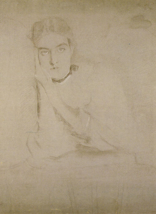 The Dreamer (Study), Drawing by Cecilia Beaux (1855-1942, United States)