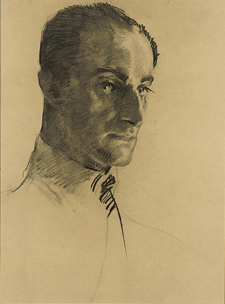 Untitled (Head of a Man), Drawing by Cecilia Beaux (1855-1942, United States)