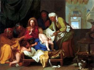 Charles Le Brun - The sleeping child Jesus