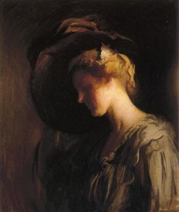 Edmund Charles Tarbell - Adjusting the Hat (aka Head)