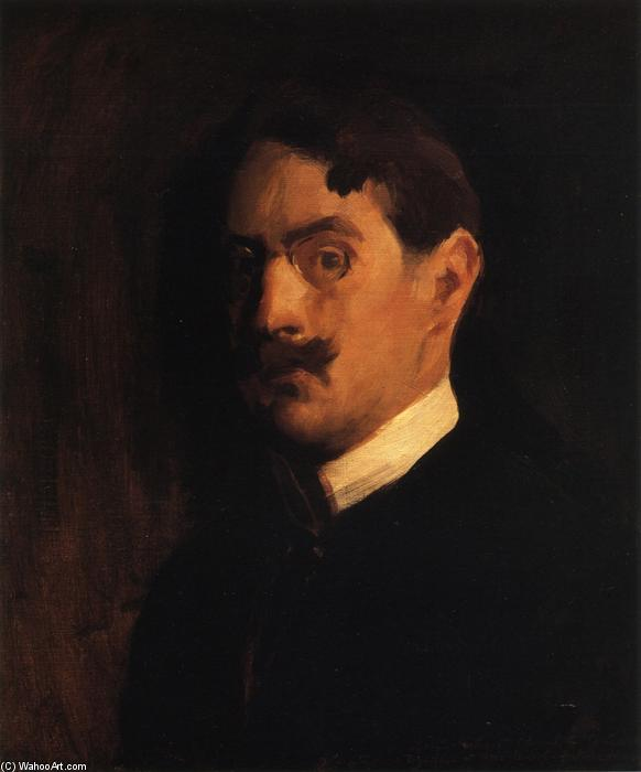 Self Portrait, Oil by Edmund Charles Tarbell (1862-1938, United States)