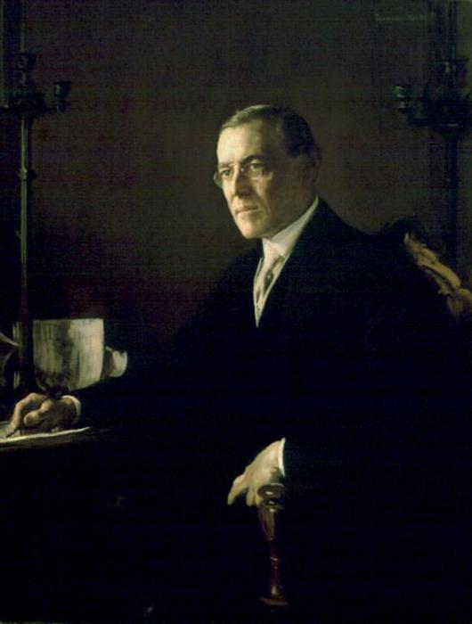 Woodrow Wilson, Oil by Edmund Charles Tarbell (1862-1938, United States)