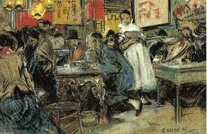 Everett Shinn - Chinese Restaurant