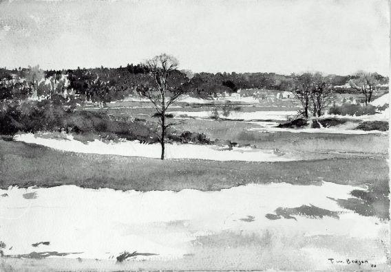 Danvers River, Massachusetts, Watercolour by Frank Weston Benson (1862-1951, United States)