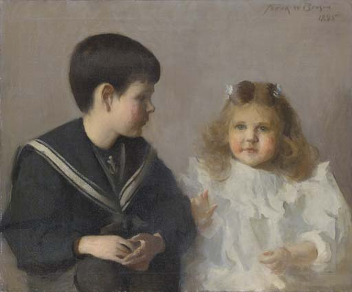 Harold D. Walker & Katherine M. Walker, Oil by Frank Weston Benson (1862-1951, United States)