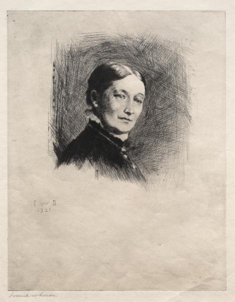 Mrs. Malloch, Etching by Frank Weston Benson (1862-1951, United States)