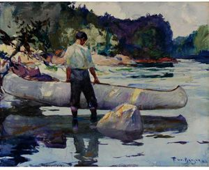 Frank Weston Benson - The White Canoe