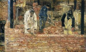 Frederick Childe Hassam - The Bricklayers