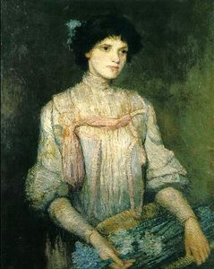 Julian Alden Weir - A Flower Girl