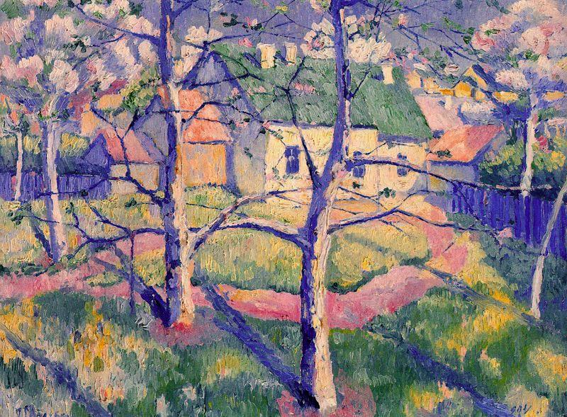 Apples Trees in Blossom by Kazimir Severinovich Malevich (1879-1935, Ukraine) | Museum Art Reproductions | ArtsDot.com