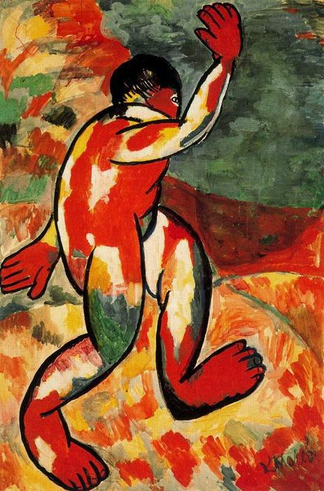 Bather by Kazimir Severinovich Malevich (1879-1935, Ukraine) | Painting Copy | ArtsDot.com