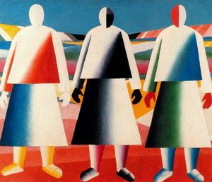 Kazimir Severinovich Malevich - Girls in the Field