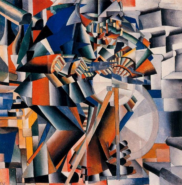 Knife Grinder - Principle of Flickering by Kazimir Severinovich Malevich (1879-1935, Ukraine) | Museum Quality Reproductions | ArtsDot.com