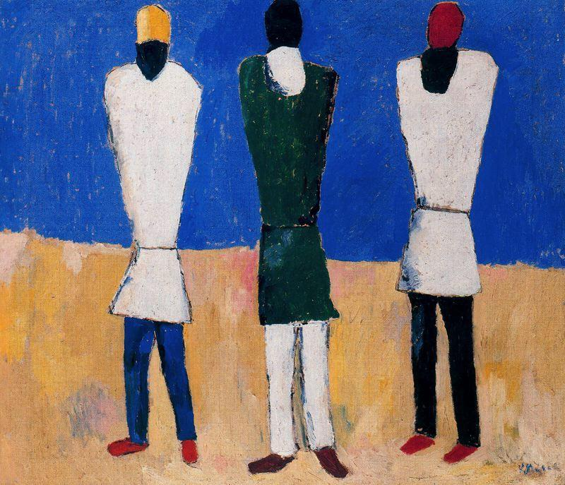 Peasants by Kazimir Severinovich Malevich (1879-1935, Ukraine) | Museum Art Reproductions | ArtsDot.com