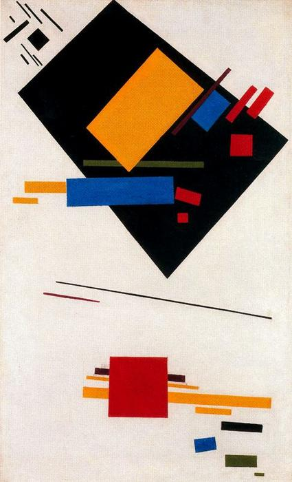 Suprematist Painting 6, Oil by Kazimir Severinovich Malevich (1878-1935, Ukraine)