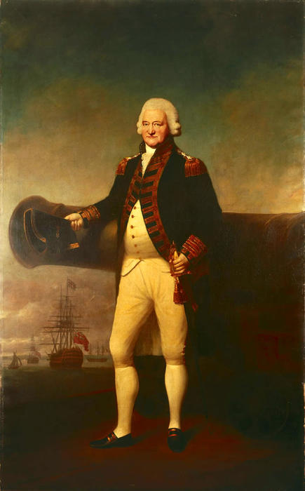 Order Art Reproductions | Sir Peter Parker Bt, 1721-1811, Admiral of the Fleet by Lemuel Francis Abbott (1760-1802, United Kingdom) | ArtsDot.com