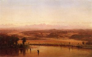 Thomas Worthington Whittredge - Along The Platte River, Colorado