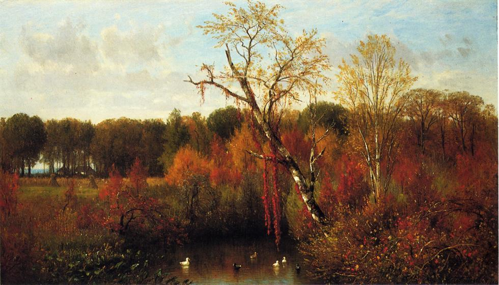 Duck Pond, 1864 by Thomas Worthington Whittredge (1820-1910, United States) | Museum Quality Copies Thomas Worthington Whittredge | ArtsDot.com