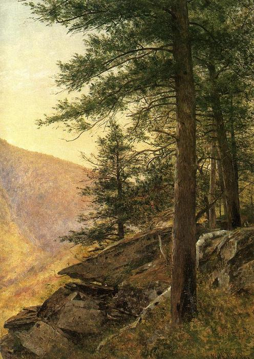 Hemlocks in the Catskills by Thomas Worthington Whittredge (1820-1910, United States) | Museum Art Reproductions Thomas Worthington Whittredge | ArtsDot.com