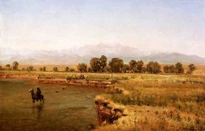 Thomas Worthington Whittredge - Indian Encampment on the Platte River, Colorado
