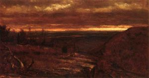 Thomas Worthington Whittredge - Landscape at Sunset