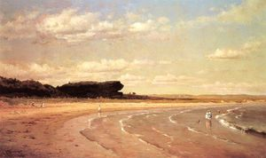 Thomas Worthington Whittredge - Second Beach, Newport