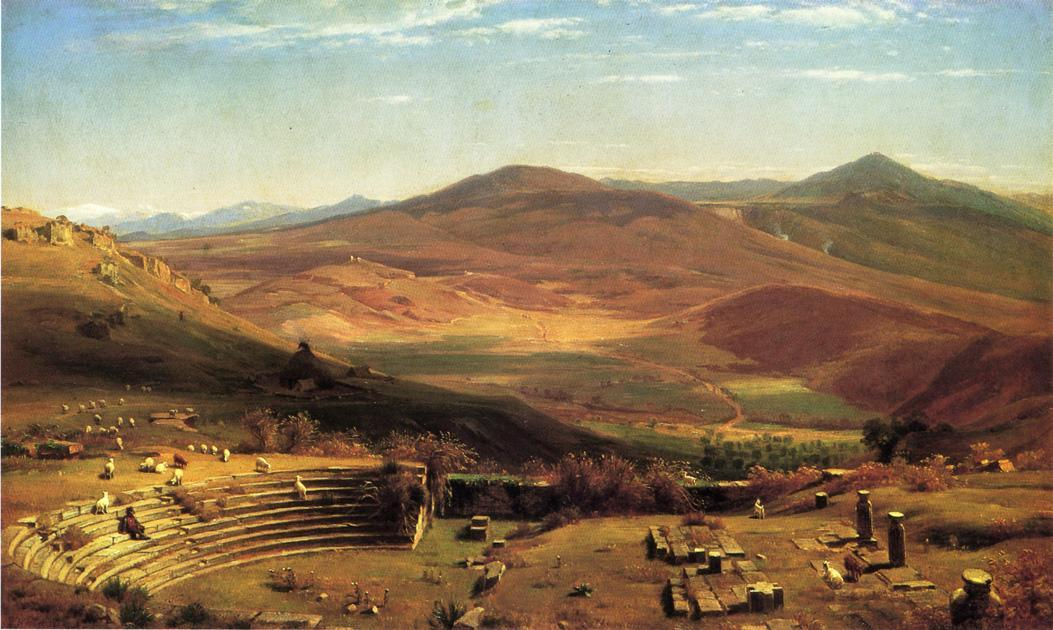 Buy Museum Art Reproductions | The Amphitheatre Of Tusculum And Albano Mountains, Rome by Thomas Worthington Whittredge (1820-1910, United States) | ArtsDot.com