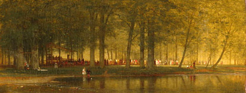The Camp Meeting by Thomas Worthington Whittredge (1820-1910, United States) | Museum Quality Copies Thomas Worthington Whittredge | ArtsDot.com