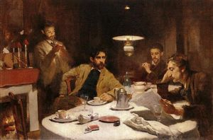 Willard Leroy Metcalf - Ten Cent Breakfast