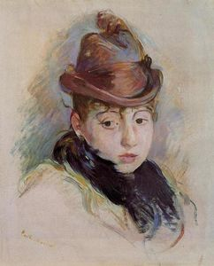 Berthe Morisot - Young Woman in a Hat (Henriette Patte)
