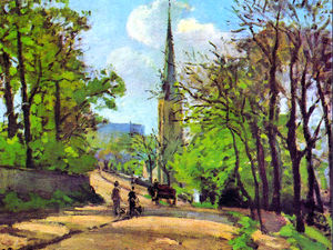 Camille Pissarro - St. Stephen-s Church, Lower Norwood