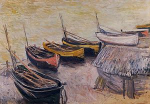 Claude Monet - Boats on the Beach