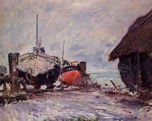 Claude Monet - Fishing Boats at Etretat