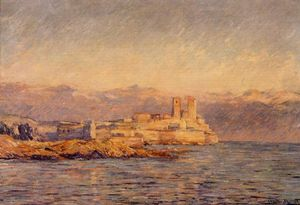 Claude Monet - The Castle in Antibes