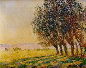 Claude Monet - Willows at Sunset