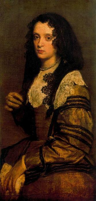 A Young Lady, Oil On Canvas by Diego Velazquez (1599-1660, Spain)