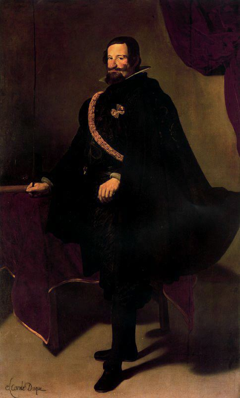 Conde-Duque de Olivares 1, Oil by Diego Velazquez (1599-1660, Spain)