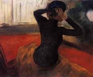 Edgar Degas - Woman Trying on a Hat