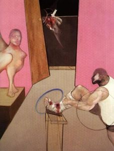 Francis Bacon - Oedipus and the Sphinx After Ingres