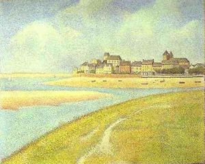 Georges Pierre Seurat - View of Le Crotoy from Upstream