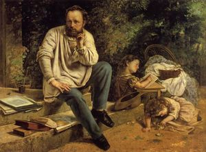 Gustave Courbet - Portrait of P.-J. Proudhon in 1853