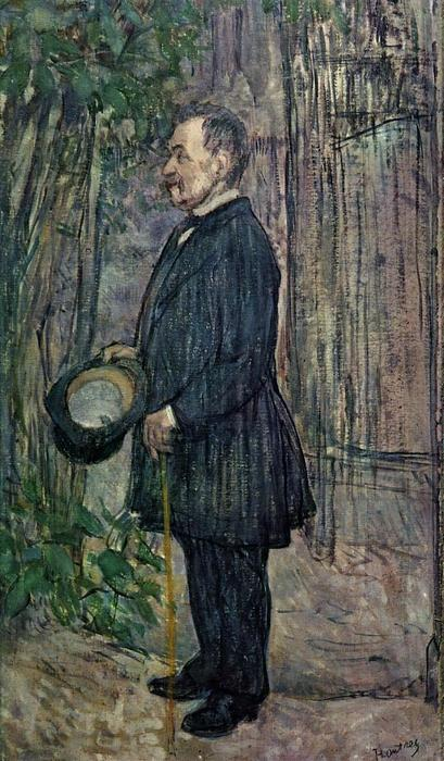 Henri Dihau, Oil On Panel by Henri De Toulouse Lautrec  (order Fine Art Poster on canvas Henri De Toulouse Lautrec)