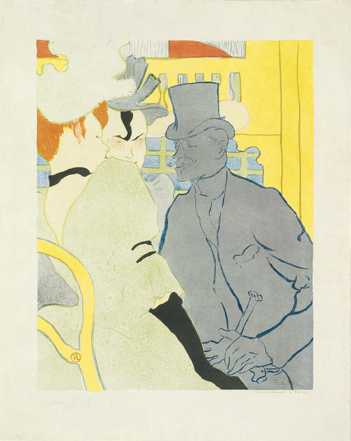 L'Anglais au Moulin Rouge, Oil by Henri De Toulouse Lautrec (1864-1901, France)