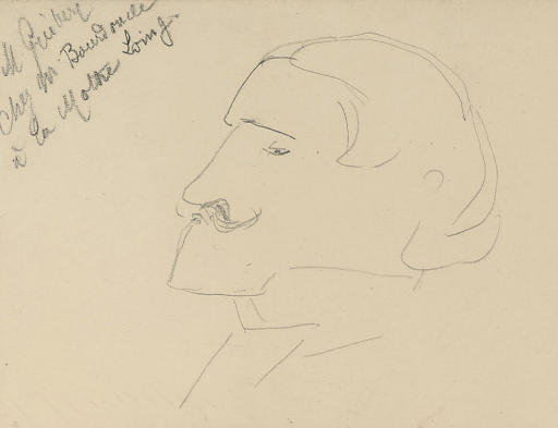 Lucien Guitry, Drawing by Henri De Toulouse Lautrec (1864-1901, France)