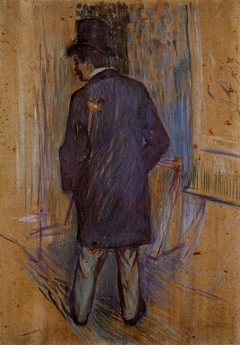 Monsieur Louis Pascal from the Rear, Oil by Henri De Toulouse Lautrec (1864-1901, France)